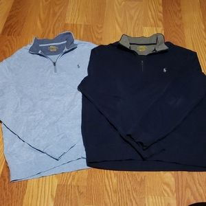 Men's Lot of 2 Polo RALPH Lauren Pullover Shirts M